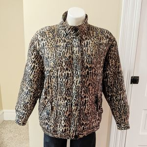 Vintage Anna and Frank silk animal print coat.
